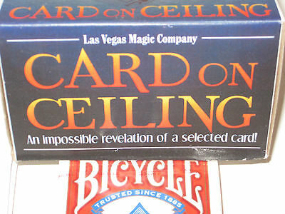 Card On Ceiling Magic Trick - Classic Stage Card Magic, Close Up Routine&Patter