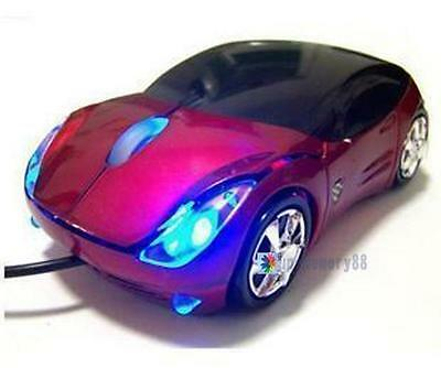 800DPI Optical Cool Red Car Shape USB 2.0 3D Optical Mouse Mice For PC Laptop UP