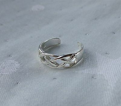 Loose Weave Toe Ring 925 Sterling Silver