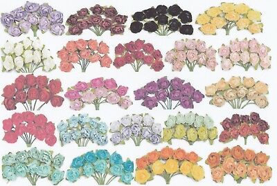 Mixed Pack 10 Mini PAPER BLOOMS Flowers Wedding Invitations Scrapbooking Craft
