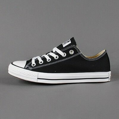 Converse All Star Chuck Taylor Low Top Canvas Black White New In Box M9166