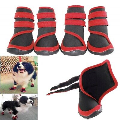 Dog Shoes Black Red Waterproof XXS XS S M L XL XXL - Boots Booties Paws Injury