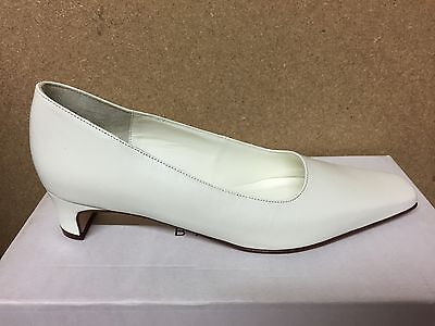 Ivory Leather Bridal Bridesmaid Shoes Sizes 3-8 By Pure & Precious Style Harvey