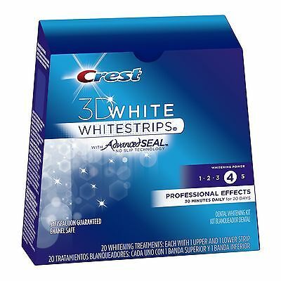 Crest3D LUXE Professional Effects Bandes Blanchiment Dents 10 20 40 80 Strips