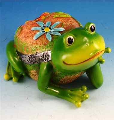 Frog Indoor Outdoor Decorative Flower Garden Statue Figurine  Resin C18