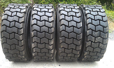4 NEW 10X16.5 Skid Steer Tires 10-16.5-12 ply rating-HEAVY DUTY, non directional