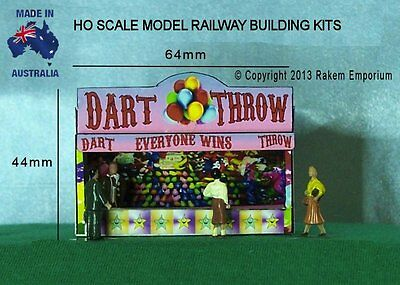 HO Scale Balloon Dart Throw Carnival 3D Model Railway Building Kit - REDT1