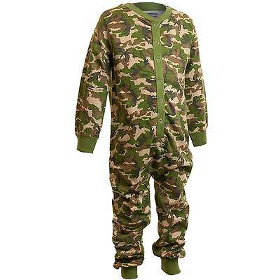 Bedlam Camouflage 1Onesie Onezi Boys Cotton Jersey Jumpsuit Playsuit Green 2-6yr