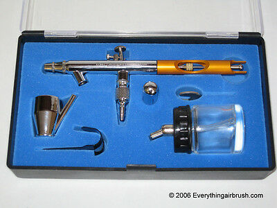 Suction Feed Double Action Airbrush With Gold Handle (0.35Mm)