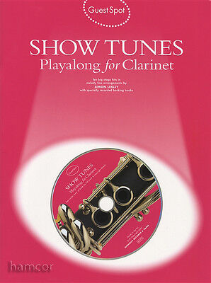 Guest Spot Show Tunes Playalong for Clarinet Sheet Music Book &Backing Tracks CD