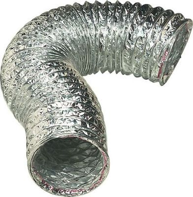 Extractor Ducting Aluminium HOSE Flexi 100 / 120mm x 1m Flame Resistant Strong