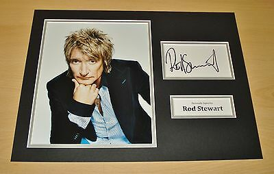 Rod Stewart GENUINE HAND SIGNED Authentic Autograph 16x12 Photo Display + COA