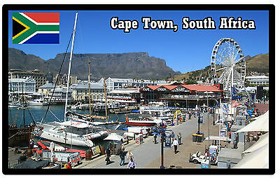 Cape Town, South Africa - Souvenir Novelty Fridge Magnet - Sights / Flag / Gifts