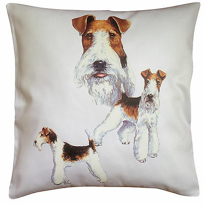 Wirefox Terrier Wire Fox Group Breed of Dog Cotton Cushion Cover - Perfect Gift