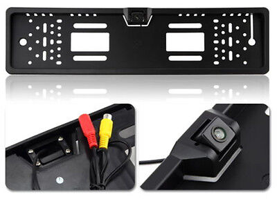 Waterproof 170° Euro&UK Car License Plate Frame Rear View Night Vision Camera EU