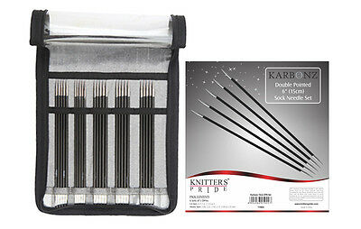 """Knitter's Pride Karbonz Double Pointed 6"""" Sock Needle Set"""