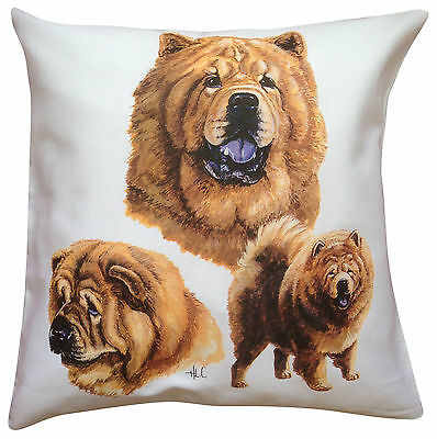 Chow Chow Group Breed of Dog Cotton Cushion Cover - Perfect Gift