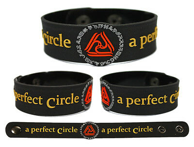 A PERFECT CIRCLE Rubber Bracelet Wristband By and Down Mer de Noms