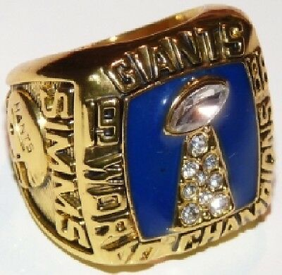 Goodies Bague Chevaliere NFL SIMMS NY GIANTS Superbowl 1986 neuve