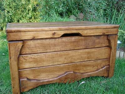Wooden Blanket Box Coffee Table Trunk Vintage Chest Wooden Ottoman Toy Box (LU2)