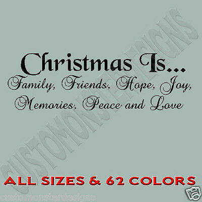 Christmas Family Friends Holiday Hope Vinyl Wall Art Quote Decor Words Decals