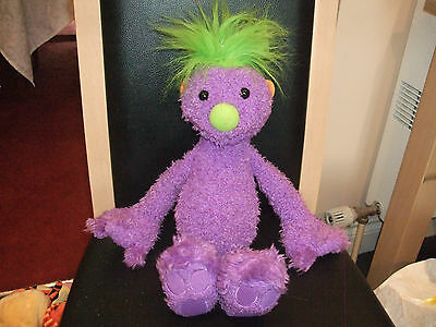 "Talking Purple Hoobs Soft Toy Plush Called Ivor 18"" By Jim Henson 2001 Vgcc"