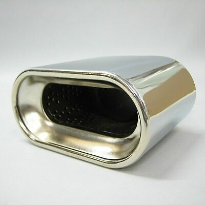 Universal Sport Exhaust Stainless Chrome Pipe Muffler Trim Pipe Tail Tip
