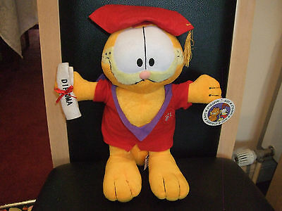 """GRADUATION GARFIELD SOFT TOY THE CAT 12""""  PLAY BY PLAY WITH TAGS ATTACHED VGCC"""