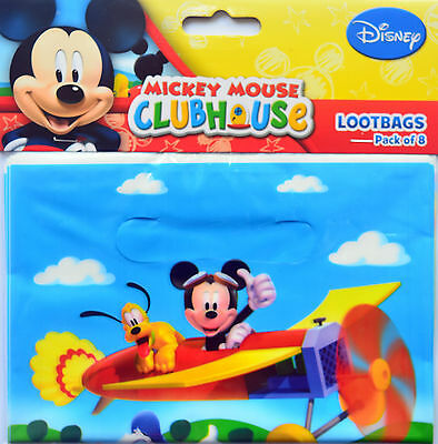 Mickey Mouse Party Supplies Loot Bags Pack Of 8 Free Postage