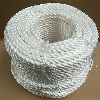 White Poly Rope Coils, Polyrope, Polypropylene, Agriculture, Camping, Tarpaulins