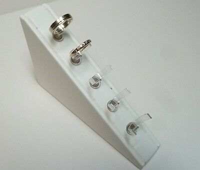 Five Ring Wedge in  ivory leatherette