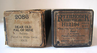 2 Women Dear Old Pal Of Mine When You And I Were Young Player Piano Music Rolls