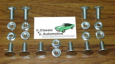 Camaro 70 71 72 73 non-RS Bumper Bolts 20pc Kit w/ Nuts Front Rear bolt set