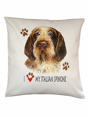 Italian Spinone Heart Breed of Dog Cotton Cushion Cover - Perfect Gift