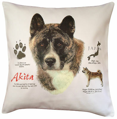 Akita History Breed of Dog Cotton Cushion Cover - Perfect Gift
