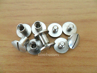 100 Nickel Binding Chicago Screws/Posts Interscrew 6mm Arts Crafts Scrapbooking