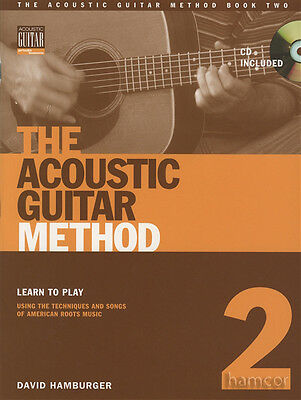 The Acoustic Guitar Method 2 TAB Music Book/CD Learn to Play Using Songs & Techn