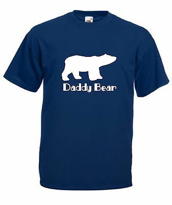 DADDY BEAR T-SHIRT Mens Christmas Birthday Fathers Day Present Gift Daughter Son