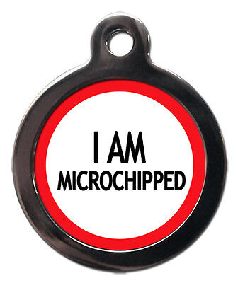 I am Microchipped Pet Dog Cat Medical Informative Tag Pet Tags