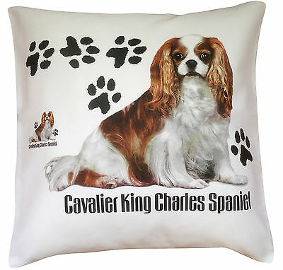 Cavalier King Charles Spaniel Paws Dog Cotton Cushion Cover - Perfect Gift