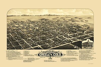 Panoramic Print - Greeley Colorado - Stoner 1882 - 23 x 34.83