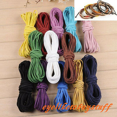 10/100yard 2mm Suede Leather Cord Rope Thread Jewelry Making Findings Craft DIY