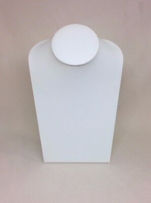 XL Jewellery Display Necklace Bust - Cream Leatherette - * Made in the UK *