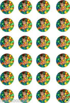 24x PRECUT PERSONALISED YOUR OWN PHOTO WAFER/RICE CUP CAKE TOPPERS/BIRTHDAY
