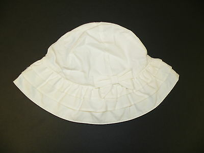 GYMBOREE WEDDINGS & CELEBRATIONS WHITE TIERED w/ BOW SUN HAT 0 3 6 12 18 24 NWT