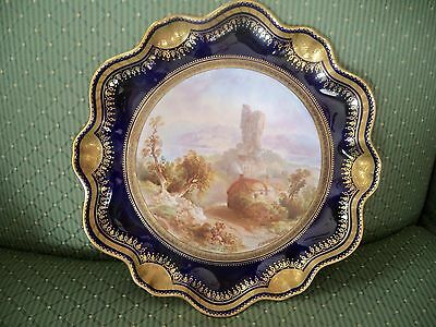 Stunning Hand Painted Cabinet Plate Signed J Birbeck  *Griffel 2204 Landscape