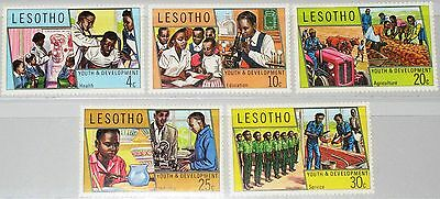 LESOTHO 1974 151-55 Youth & Development Jugend Entwicklung School Schule MNH