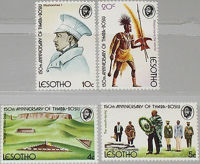 LESOTHO 1974 170-73 Thaba Bosiu becoming Capital Krieger Warrior Landscape MNH