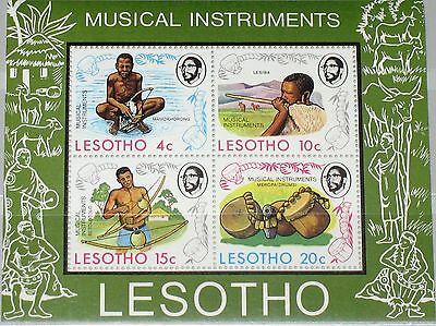 LESOTHO 1975 Block 1 S/S 177a Musical Instruments Musikinstrumente Music MNH