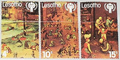 LESOTHO 1979 278-80 Intl. Year of the Child Jahr des Kindes Paintings Games MNH